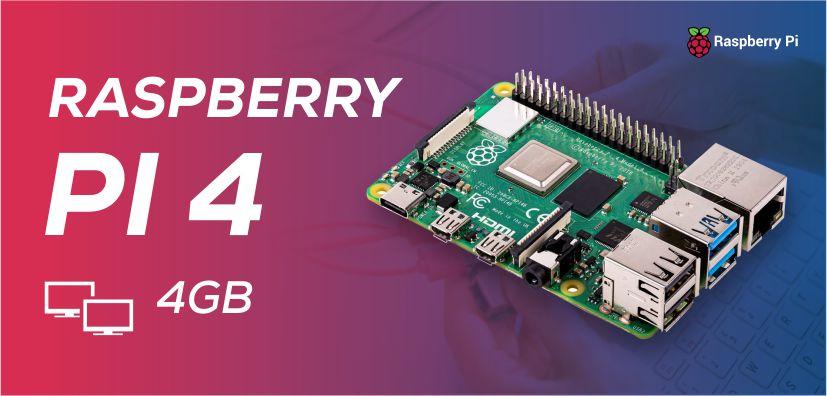 Raspberry Pi 4 Model B, 4GB