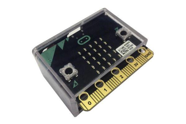 micro bit MULTICOMP BBC Microbit Dev Board Enclosure, HIPS, Black, Clear Lid, MC001566