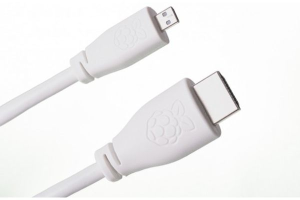 kabli RASPBERRY PI Micro-HDMI to HDMI Cable 1m, White, T7689AX