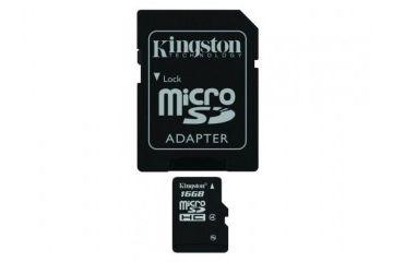 sd kartice KINGSTON 16 GB microSDHC Class 10,MicroSD SDHC 16 GB Class 10 Flash W SD adapter