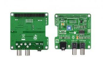 hi-fi audio MIKROELEKTRONIKA RaspyPlay4 Add-On for Pi B+ - Pi 2 B, MikroElektronika