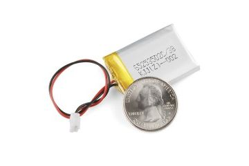 liion lipoly SPARKFUN Polymer Lithium Ion Battery - 400mAh, spark fun 10718