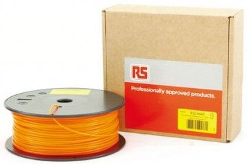 dodatki RS PRO 1.75mm 3D Printer Filament Fluorescent Orange, 300g PLA, 832-0440