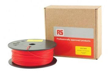 dodatki RS PRO 1.75mm 3D Printer Filament Red, 300g ABS, 832-0469