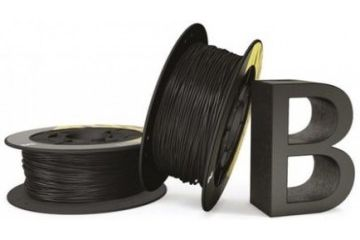 3D SYSTEMS 1.75mm 3D Printer Filament Black, 1kg PLA, BQ, 05BQFIL026