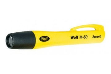 žepne WOLF S. LAMP  M-60 3 x LR1, LED Torch, Resistant Thermoplastic, Yellow, Wolf Safety, M-60