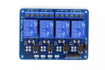 breakout boards  ADEEPT 5V 4 Channel Relay Module with Optocoupler, Adeept, ADM010