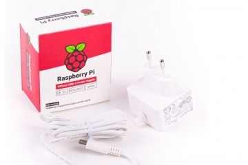 adapters RASPBERRY PI Official Raspberry pi 4 USB-C 15.3W Power Supply, 5.1V, 3.0A, WHITE, EU PLUG