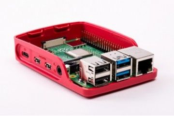 ohišja RASPBERRY PI Official Raspberry Pi 4 Model B, Development Board Case, Red-White