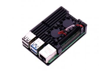 ohišja YAHBOOM Raspberry Pi 4B double fan armor case for 4B, YAHBOOM 6000300548