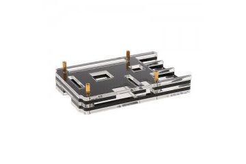 ohišja JH ELEC. Acrylic Case Shell Cover Enclosure Protector for Raspberry Pi 3 B+ - Black