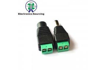 connectors JH ELEC. 1 Pair Male + Female CCTV Cameras 2.1mm x 5.5mm Female Male DC Plug, JH ELEC. YXA401