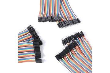 wires, headers FUT ELECTRONICS Premium Jumper Wires pack, 3 pcs, 30 cm 40 pin, female-female, female-male, male-male, FUT0063
