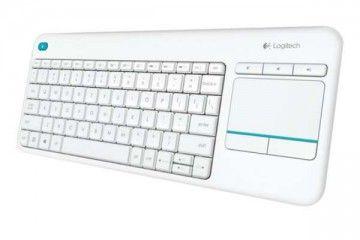 tipkovnice LOGITECH Tipkovnica K400 PLUS Wireless Touch, Logitech, Unifying, bela, SLO g., 920-007146