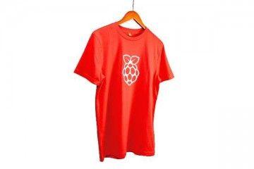 raspberry-pi RASPBERRY PI Raspberry pi Red T-shirt White Logo, Adult Size L, SC0452