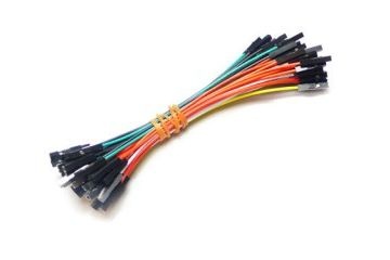jumper wires SEED STUDIO 1 pin dual-female jumper wire 100mm 50pcs pack, SEED STUDIO CAB102C4O